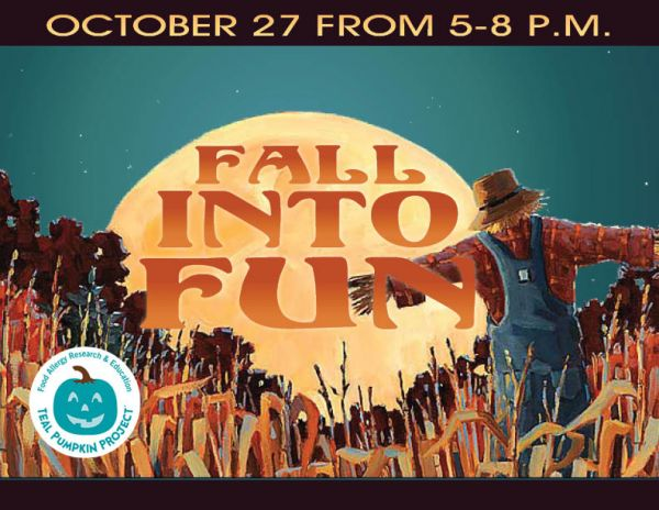 Fall Into Fun is coming on Saturday, October 27, 5 - 8 PM