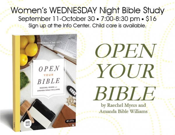 NEW Fall Wednesday Night Women's Study, starts Sept 11, 7:00 pm