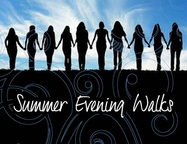 Women's Summer Evening Walks start tonight, 7 PM in Claremont